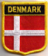 Denmark Embroidered Flag Patch, style 07.